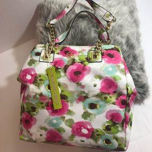 Gianni Bini Pink Multi Summer Floral Tote NWT